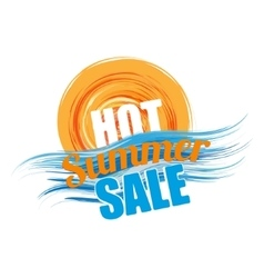 Hot summer sale banner vector