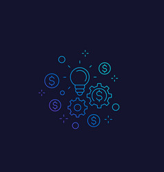 Innovations and fintech linear icon vector