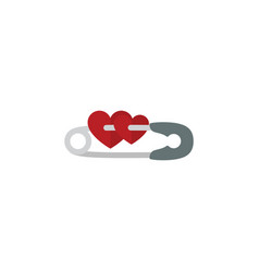 Isolated safety pin flat icon closed vector