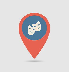 map pin theatre vector image