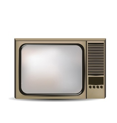 old retro tv vector image vector image