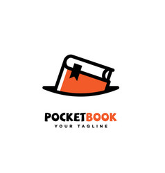 Pocket book logo vector