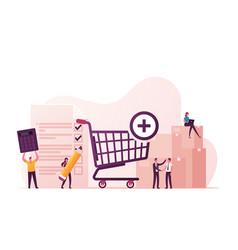 Procurement process purchasing goods or vector