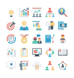 Project management colored icons 1 vector