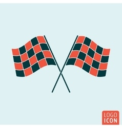Racing flag icon vector image