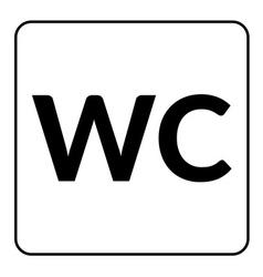 Restroom wc toilet sign vector