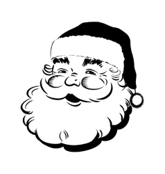 Santa Claus smiling - Retro Clip Art vector