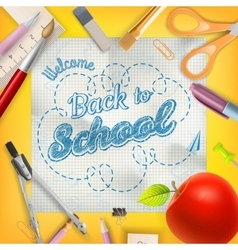 School season invitation template EPS 10 vector