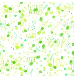 Seamless summer pattern watercolor green leaves vector image