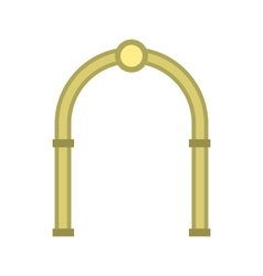 Semicircular arch icon flat style vector image