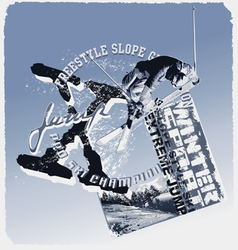 ski jump slope style vector image