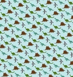 Small dinosaur pattern vector