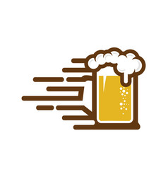 Speed beer logo icon design vector