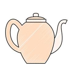 tea porcelain jar vector image