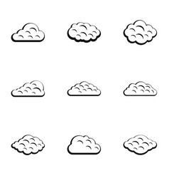 tropical cloud icon set simple style vector image