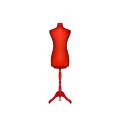 vintage dress form in red design vector image