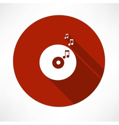 Vinyl record tunes icon vector