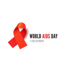 World aids day awareness month banner template vector