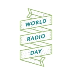 World Radio day greeting emblem vector