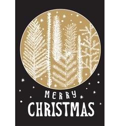 xmas card christmas greeting vector image
