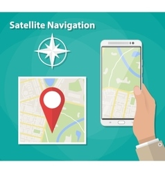 Mobile navigation concept vector