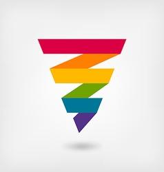 rainbow strip abstract symbol vector image vector image