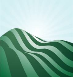 rolling hills vector image