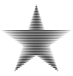 Star the horizontal lines stripes freedom usa vector