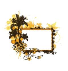 summer grunge floral frame vector image vector image