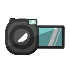 Video camera device isolated icon vector