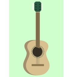 Acoustic guitar design vector image vector image