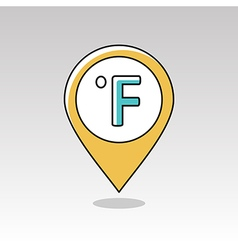 Degrees fahrenheit pin map icon weather vector