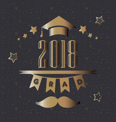 graduation of year 2018 vector image vector image