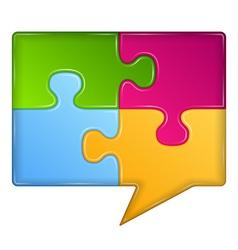 Puzzle Speech Bubble vector image vector image