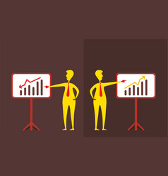 business up and down graph show vector image