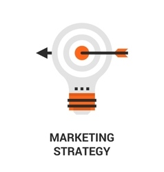 marketing strategy icon vector image