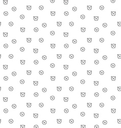 Time clock seamless pattern vector image