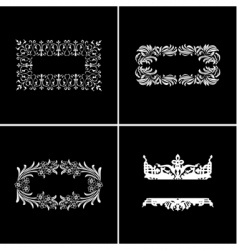 vintage ornate banners vector image vector image