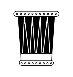 african drum instrument icon vector image vector image