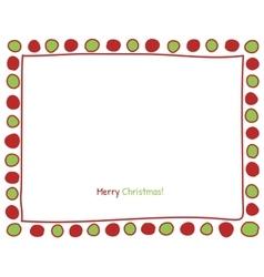 Christmas circle border vector image vector image
