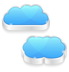 Clouds Icons vector image