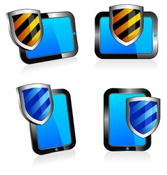 Computers Tablets Shield vector image vector image