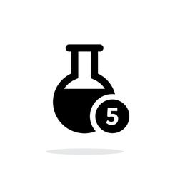 Florence flask with number simple icon on white vector image vector image