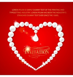 Heart frame with perls vector image vector image