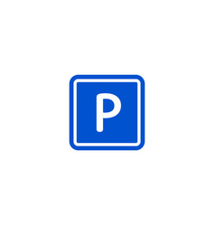 parking zone roadsign isolated on white background vector image vector image