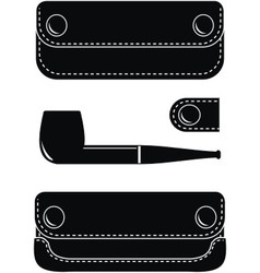 pipe case pipe and key case vector image vector image