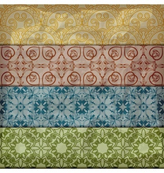 seamless retro pattern in vintage style vector image vector image