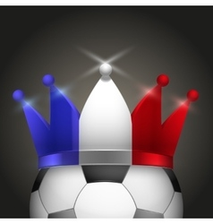 Soccer ball with french flag crown vector