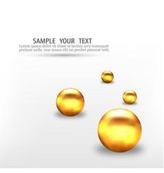 3d gold geometric balls abstract geometric vector image