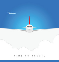 airplane poster background vector image